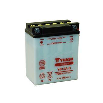Batteria Yuasa YB12A-B, 12A, positivo SX, 134x80x160mm