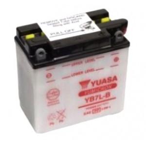 Yuasa YB7L-B, 8A, positive DX, dim 135x75x133