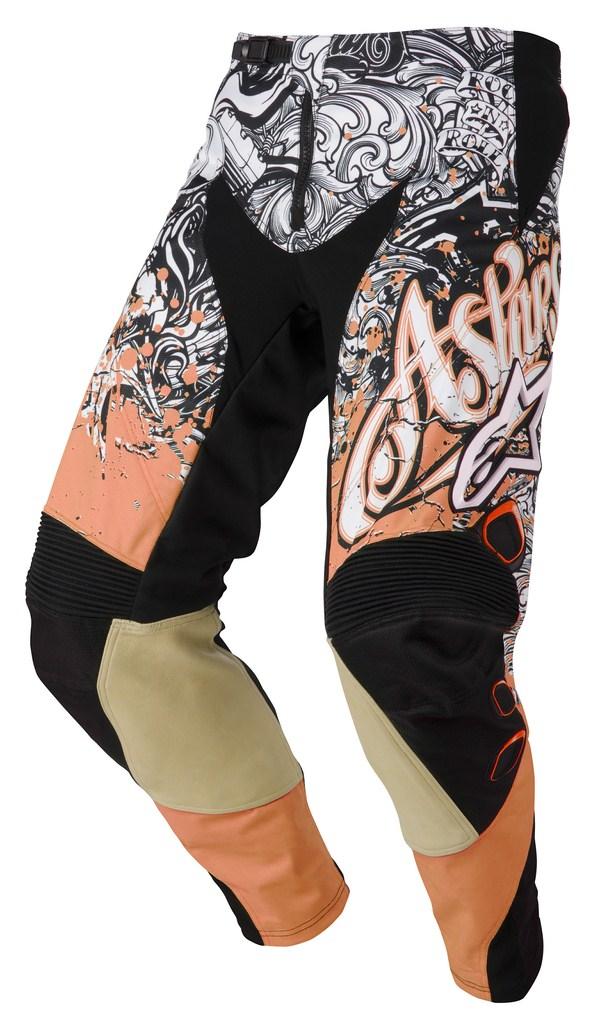 Pantaloni cross bambino Alpinestars Charger arancio nero bianco