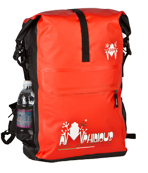 Overland 45 Amphibious Waterproof Backpack Red