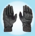 Prexport Spider summer leather gloves Black