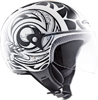 Casco moto MDS by Agv Free Multi Tattoo bianco nero