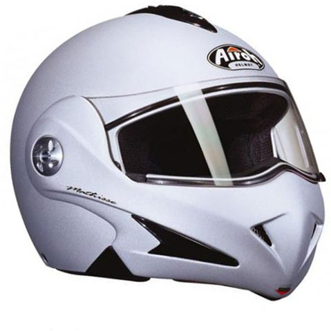 Casco moto Airoh Mathisse color silver opaco